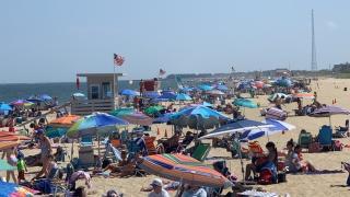Busy Beach Day In Sea Girt NJ