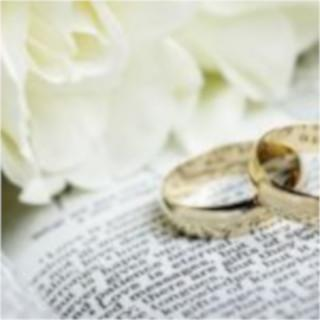 Marriage Clip Art - Flowers and rings on book