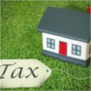 """Tax Clip Art - House with tag saying """"Tax"""""""